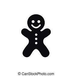 Gingerbread man icon on white background