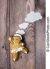 Gingerbread man in the form of a dancer