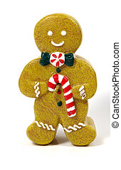 Gingerbread man - Photo of a Gingerbread Man Candle