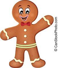 Gingerbread man theme image 1