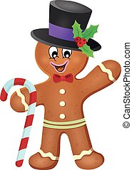 Gingerbread man theme image 3 - eps10 vector illustration.