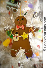 Gingerbread man with garland