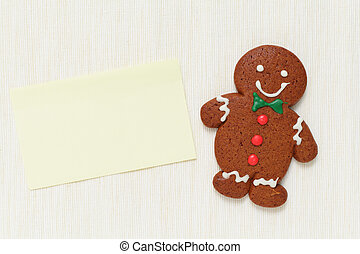 Gingerbread Man with memo paper