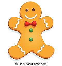 gingerbread man.eps - Gingerbread man Christmas cookie...