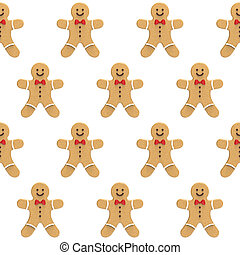 Gingerbread mans on a white background