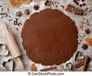 gingerbread, massa pão baking