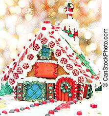 gingerbread, natal, casa
