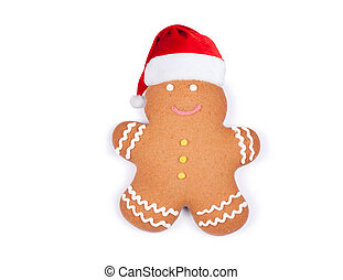 Gingerbread on a white background.