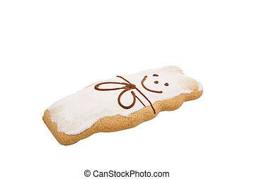 Gingerbread on a white background