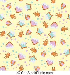 gingerbread pattern for christmas design