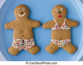 Gingerbread People with Sugar Candy Swimwear