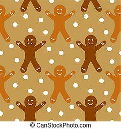 gingerbread, seamless, padrão