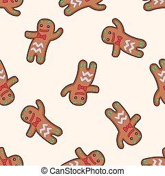 gingerbread, tema, elementos, homem