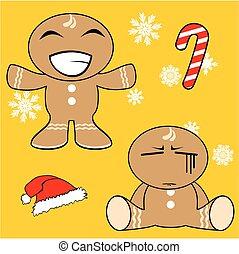 gingerman cartoon xmas set5