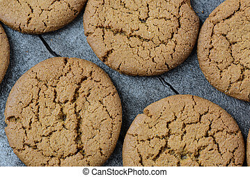 Gingersnap cookies for Christmas