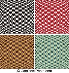 Gingham Fisheye Pattern