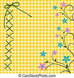 Gingham Floral