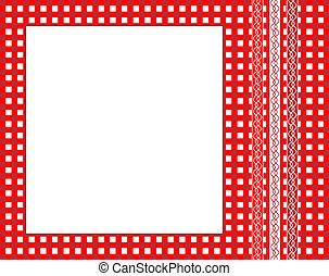Gingham frame - A vector illustration of a red gingham ...