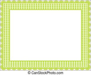 gingham, frame