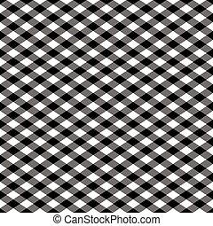 Gingham Pattern in Black