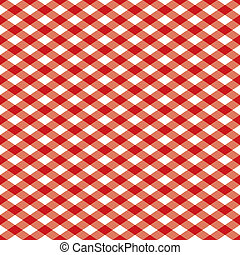 Gingham Pattern_Red - Seamless gingham plaid pattern in red...
