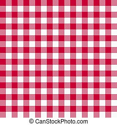 gingham red pattern