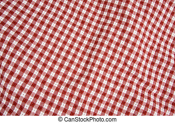 Gingham Red & White cloth - Red and White Checkered Picnic...