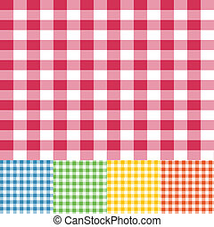 Gingham seamless pattern - Five different colour gingham ...