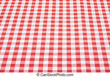 Gingham tablecloth in perspective