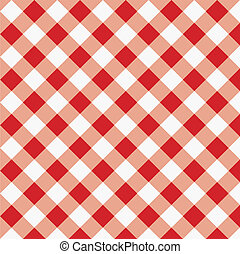 gingham, tecido, textura, vermelho