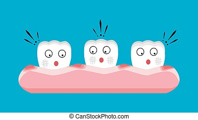 Gingivitis and blood ,dental concept