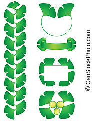 Gingko decorations - Ginkgo biloba green leaves and berry ...