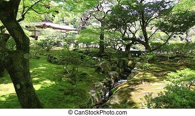 Ginkakuji Temple Kyoto - Garden with water stream of popular...