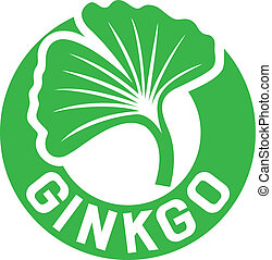 ginkgo, símbolo, biloba