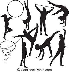 ginnasta, ragazza, atleta