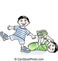 ginnastica, bambini