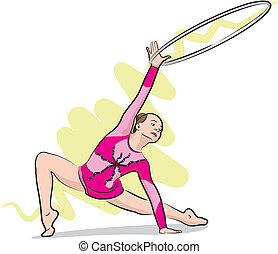 ginnastiche ritmiche, palla, -