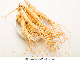 Ginseng stick on white market