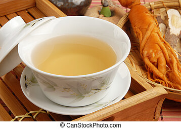 Ginseng tea - Chinese traditional ginseng tea and herbs...