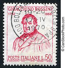 Gioacchino Rossini - ITALY - CIRCA 1968: stamp printed by...