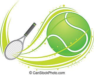 giocando tennis