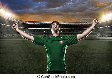 giocatore, calcio, messicano