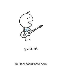 giocatore chitarra