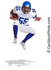 giocatore, football americano, ritagliare