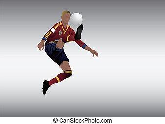 giocatore, football calcio, spagna