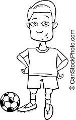 giocatore, football, coloritura