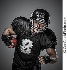 giocatore, palla football americana