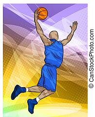 giocatore pallacanestro, saltare