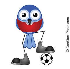 giocatore, rosso, calcio