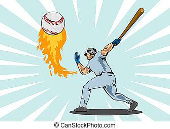 giocatore, stri, baseball